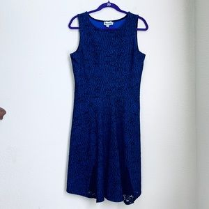 Leota Dress with Lace Inset Hem